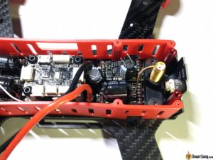 DYS Lightning X220 fpv race mini quad esc capacitor came off
