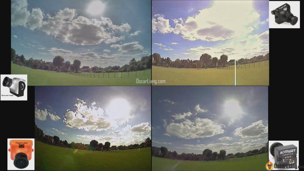 Runcam Eagle FPV camera global WDR facing sun sky