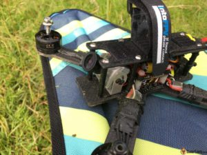 Runcam Eagle FPV camera mounted on Hibernagen 5 mini quad