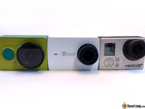 Xiaomi-yi-4k camera compare old gopro front