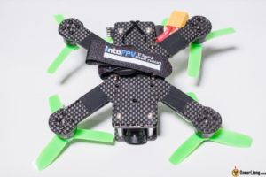 hibernagen menel X 3 inch mini quad frame build bottom battery strap
