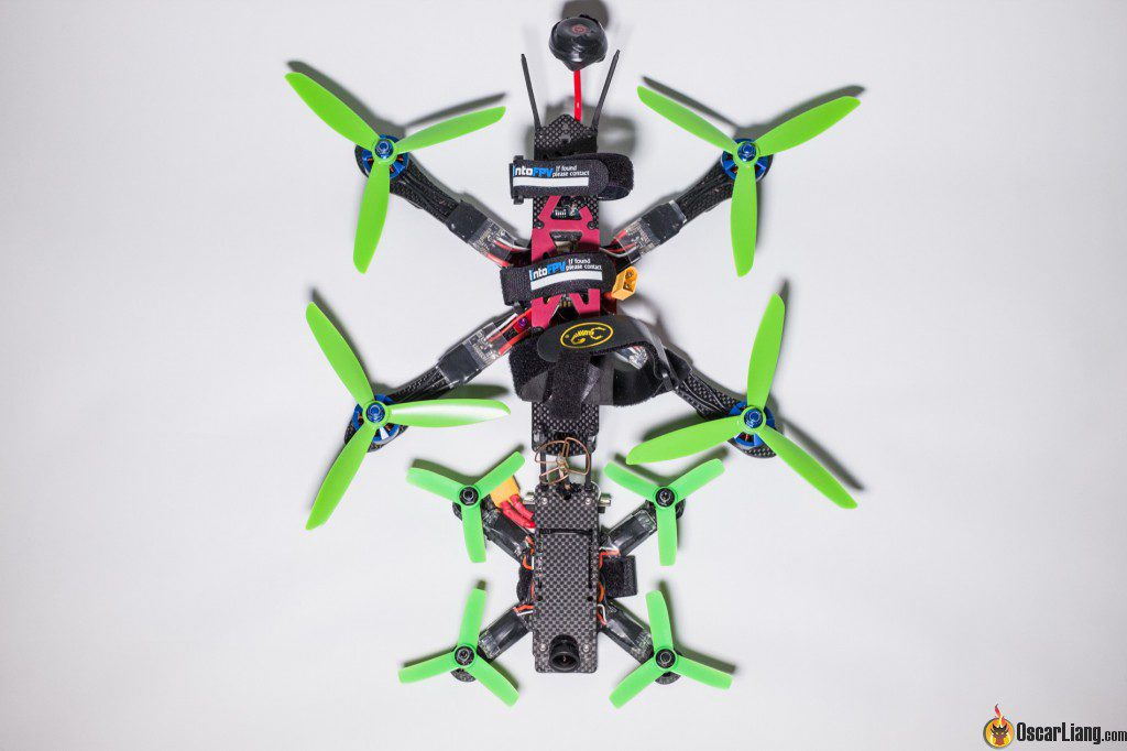 hibernagen menel X 3 inch mini quad frame build compared to 6 250