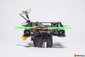 hibernagen menel X 3 inch mini quad frame build with lipo battery side