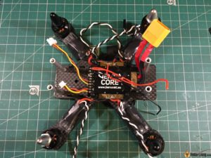 hibernagen menel X 3 inch mini quad frame solder wires on pdb