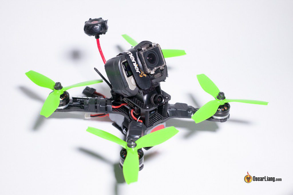 QAV-X Mini Quad Frame build angle with gopro