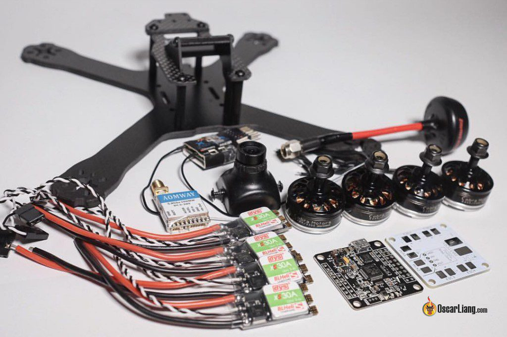 QAV-X Mini Quad Frame build components parts