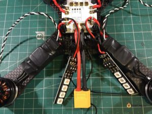QAV-X Mini Quad Frame build led bars