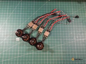 QAV-X Mini Quad Frame build motor esc solder