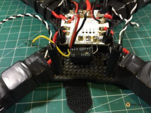 QAV-X Mini Quad Frame build power filter capacitor