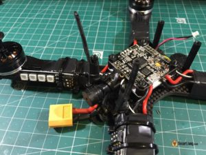 QAV-X Mini Quad Frame build rx antenna mount