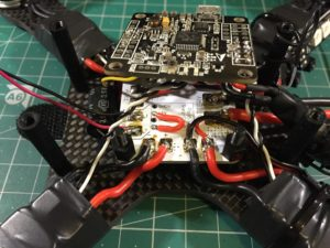 QAV-X Mini Quad Frame build short voltage regulator pins