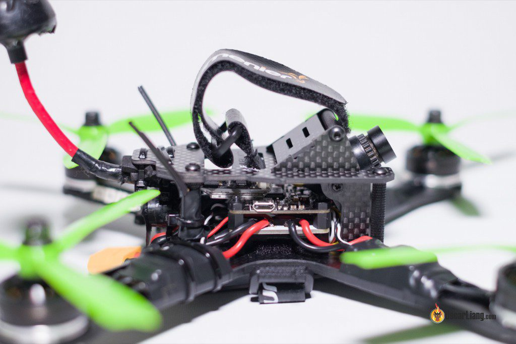 QAV-X Mini Quad Frame build side close up