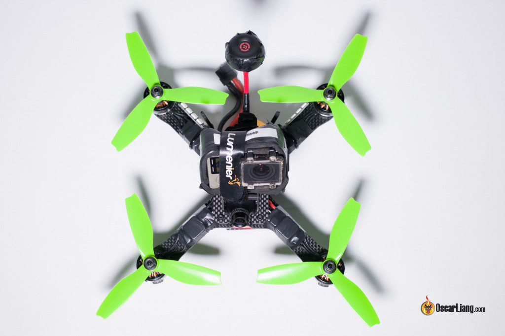 QAV-X Mini Quad Frame build top with gopro
