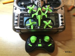 eachine E010 inductrix tiny whoop micro quad compare to Taranis TX