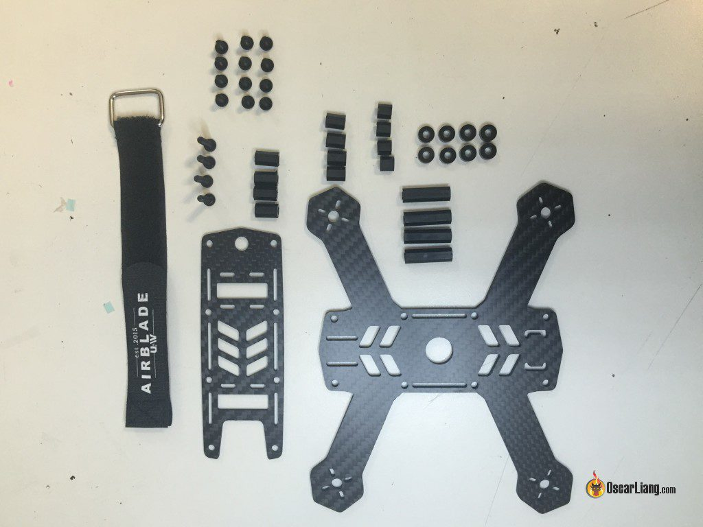 airblade-uav-team-legit-zmr-150-frame-kit-contents