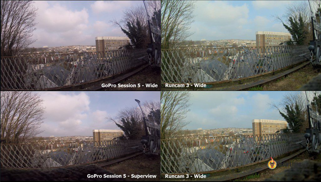 The Good News Is Under Wide FOV Of Runcam 3 And Session 5 Are Pretty Similar