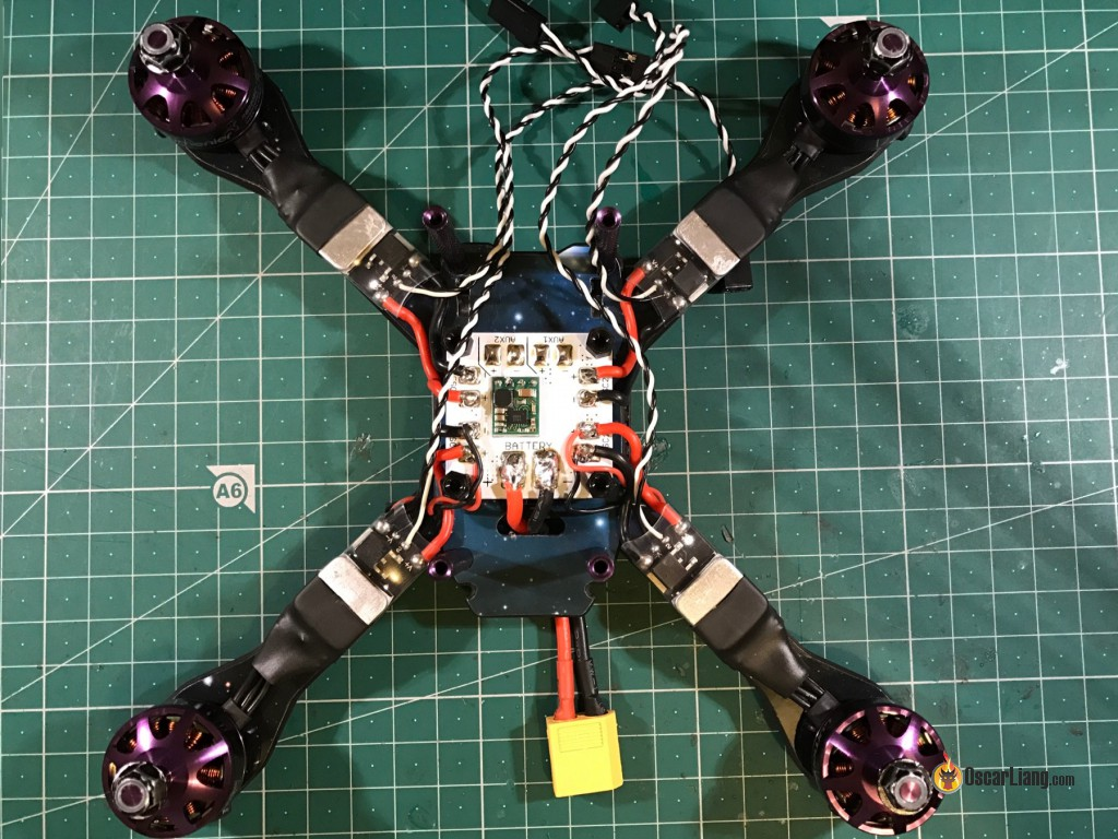 Skitzo Mini Quad Build The Experience Oscar Liang Quadcopter Wiring Diagram Fc Pads I Added Power Wires From Pololu And Video Transmitter Supply Directly Lipo 25v 470uf Capacitor To Reduce Potential Issues