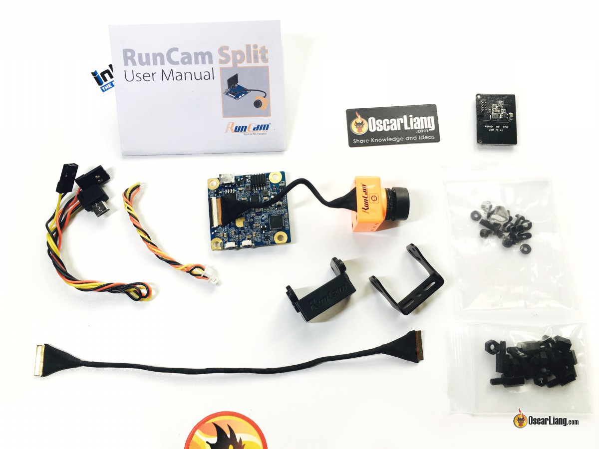 Review Runcam Split Hd Fpv Camera Oscar Liang Rc 2 Way Video Switch It Comes With These Items In The Box