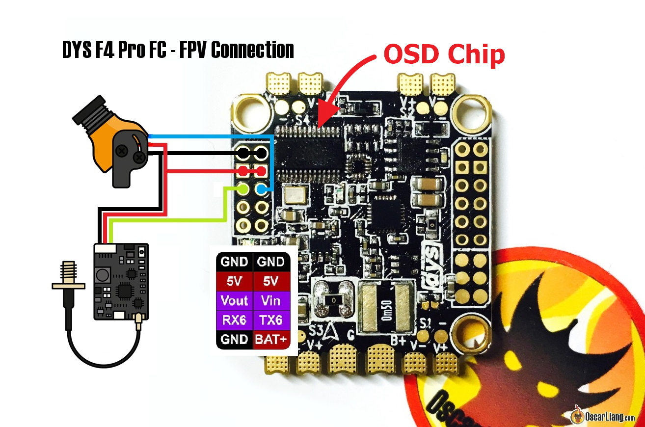 dys f4 pro fc aio flight controller 4 1 betaflight osd setup oscar liang Simple Electrical Wiring Diagrams at readyjetset.co