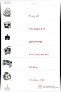 list of popular RC transmitter choices 199x300 complete mini quad parts list fpv quadcopter component choice  at n-0.co