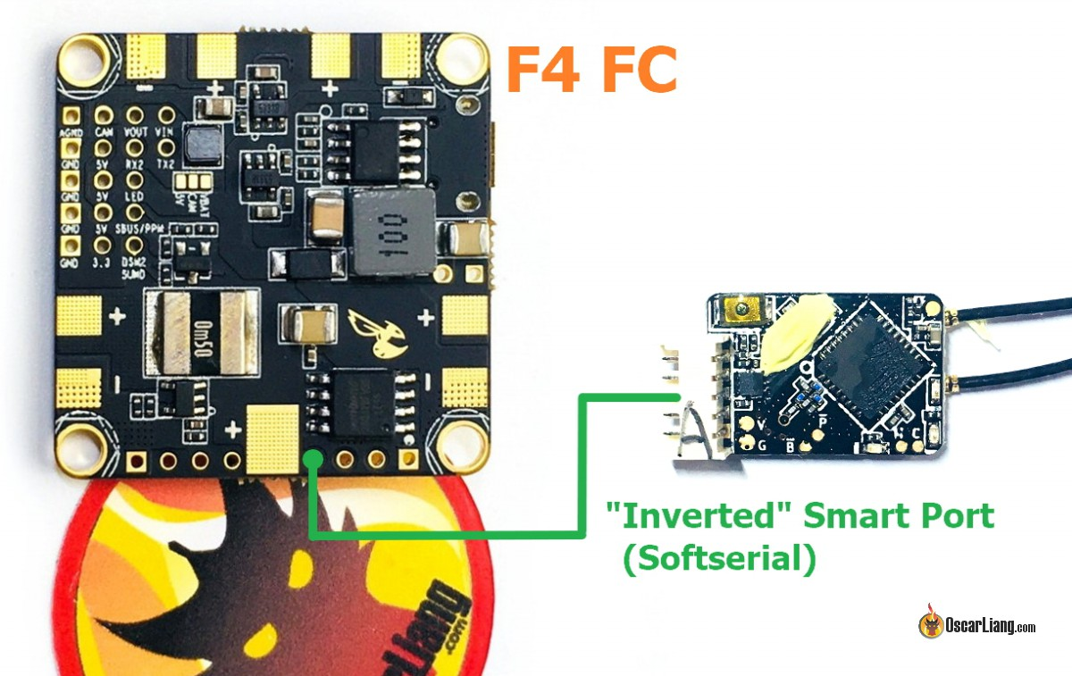 Tutorial How To Use Betaflight Softserial Oscar Liang Tx Should Be Connected Microcontroller And Rx Gps Module Connecting Inverted Smartport Signal An F4 Flight Controller