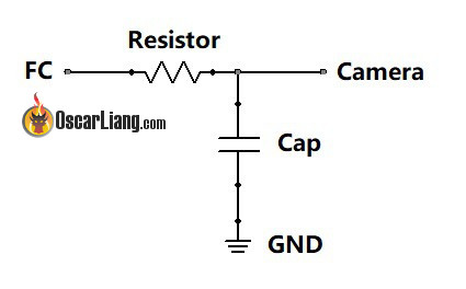 Connection of Resistor and Capacitor required for Camera Control