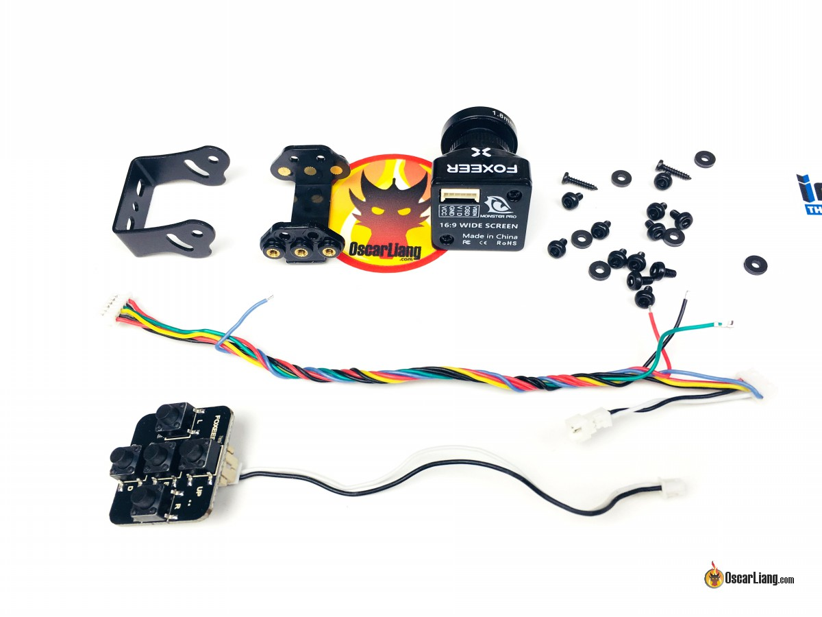 Review Foxeer Monster Pro Mini Fpv Camera Oscar Liang Miniature Christmas Lights Wiring Diagram Close Look At The