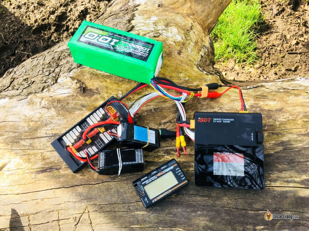 equipment for charging Lipo batteries in the field