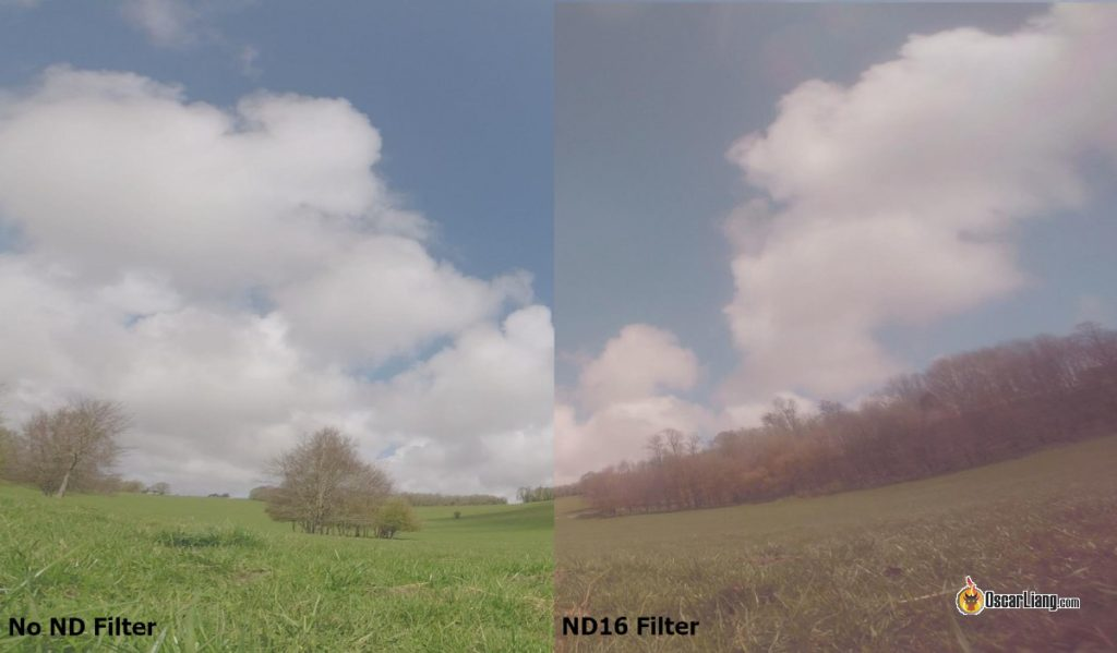 ND filter for GoPro comparison