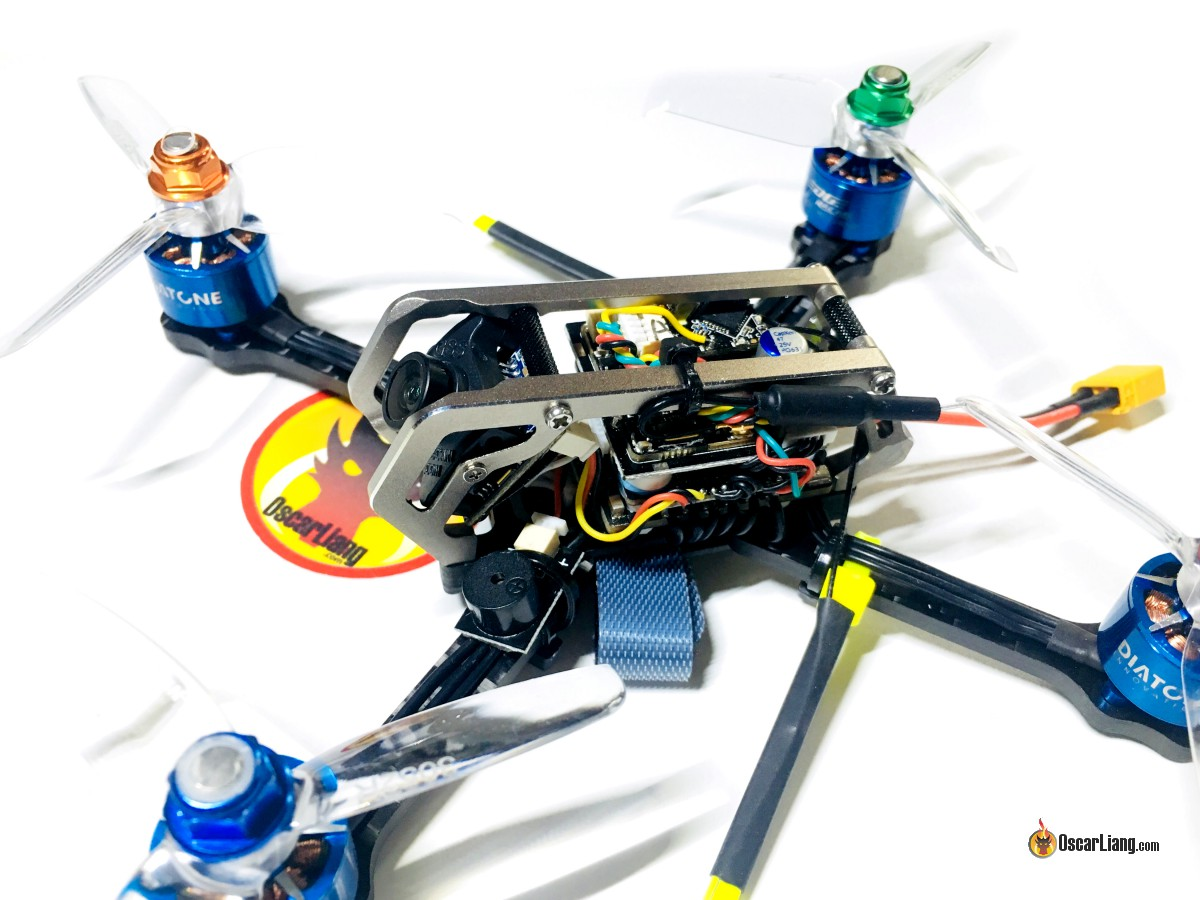 Review Diatone Gt M3 Racing Micro Quad Oscar Liang Quadcopter Wiring Diagram I Installed The Receiver On Top Of Vtx With Some Foam Tape Antennas Are Fixed To Rear Arms Zip Ties And Heatshrink