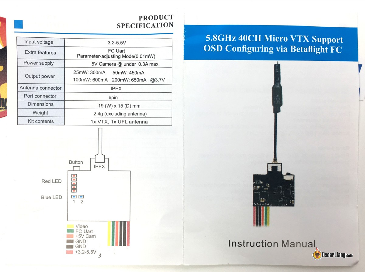 Review Akk Nano2 Vtx Oscar Liang Wiring Diagram Manual