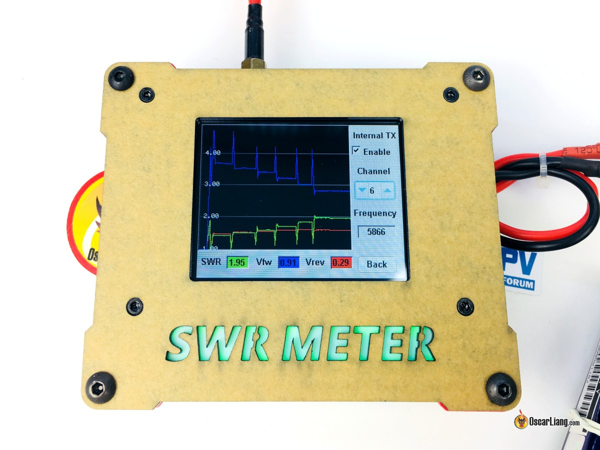 Review Owlrc Swr Meter For 58ghz Antenna Oscar Liang Turnigy Receiver Controlled On Off Switch Gt R C Electronics Scan Mode