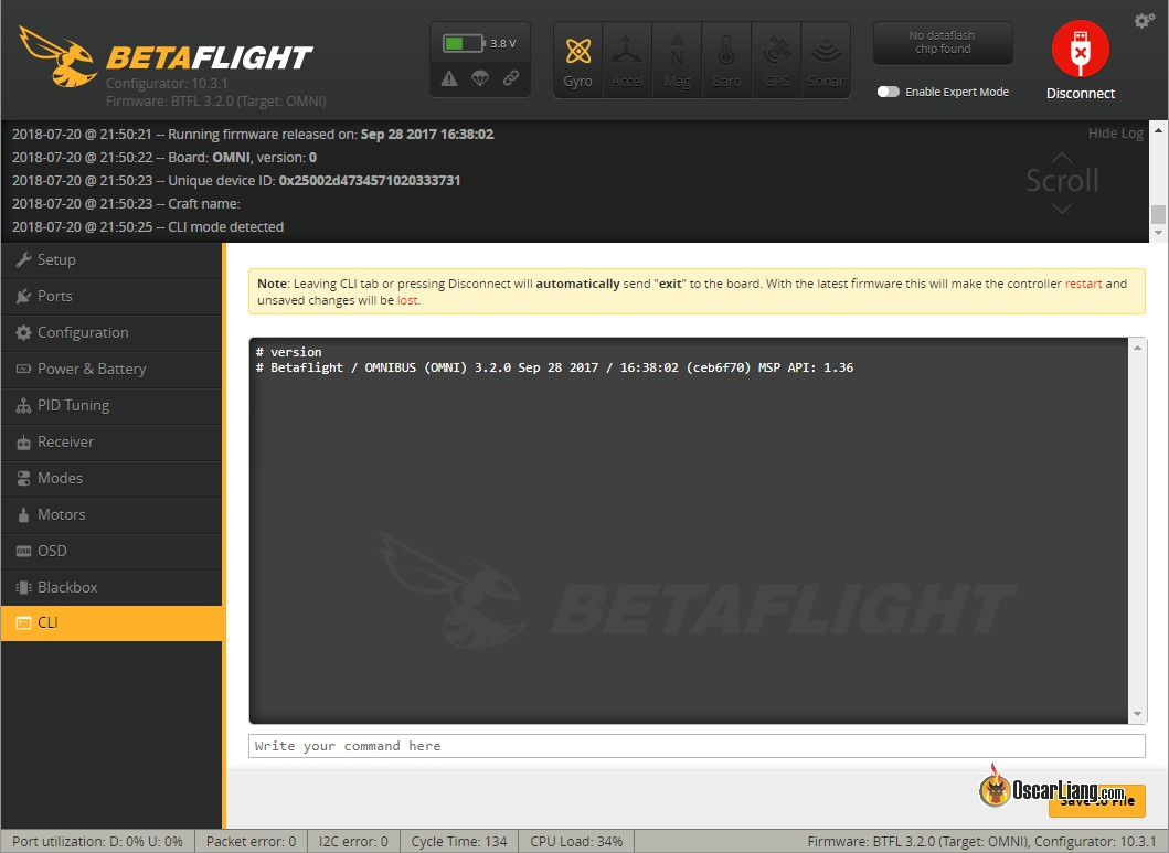 How to Identify Betaflight Firmware Target of Flight