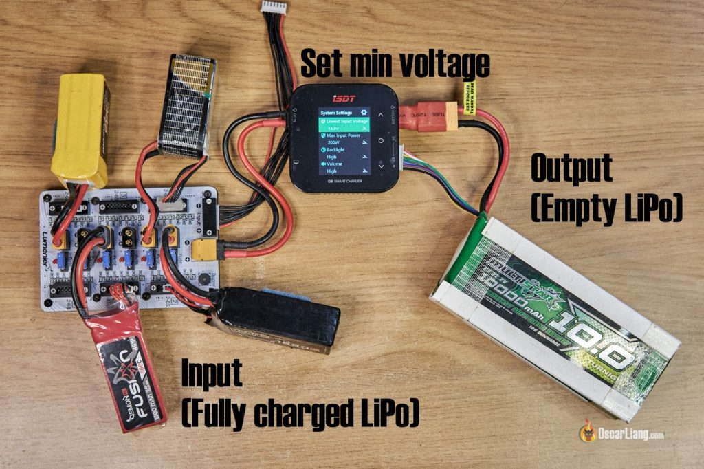discharge lipo with charger - reverse charging