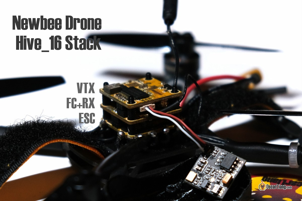 Review Hive 16 Fc Esc Vtx Stack From Newbeedrone Drone Media Uk Wiring Diagram The Top Board Is It Has A 3 Pin Connector For Your Fpv Camera And Ufl Antenna Or Extension Pigtail