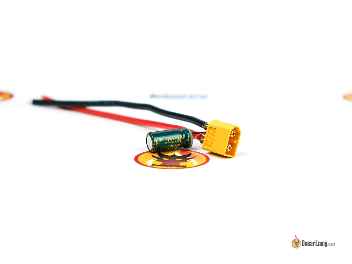 HGLRC XT60 Filter Wire Integrated 35V 1000uF Capacitor for RC FPV Racing Drone FPV Racing Frame Spare Part Accessories