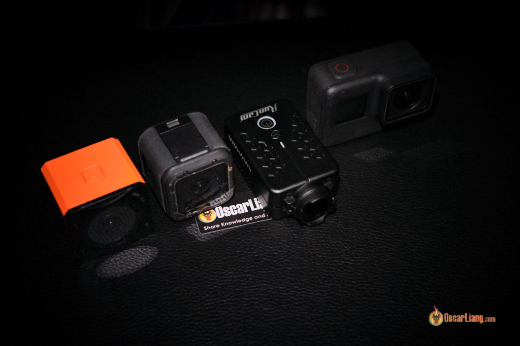 size comparison, runcam 3s, gopro session, runcam 4, gopro hero 7 black