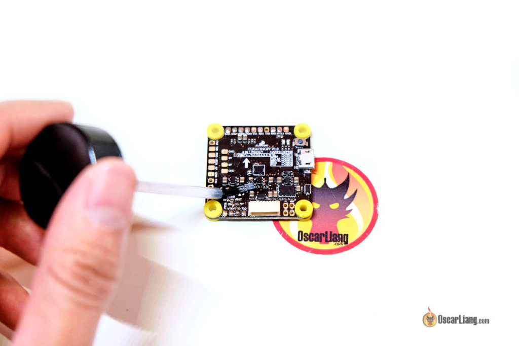 applying silicone conformal coating with brush