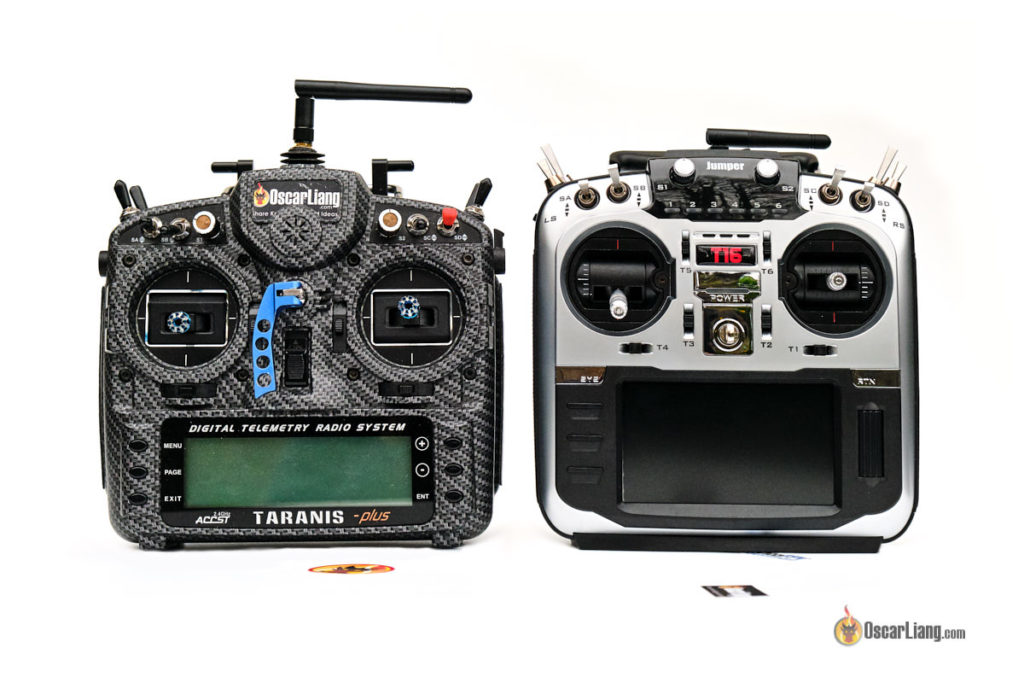 jumper t16 radio transmitter compares to the taranis X9D