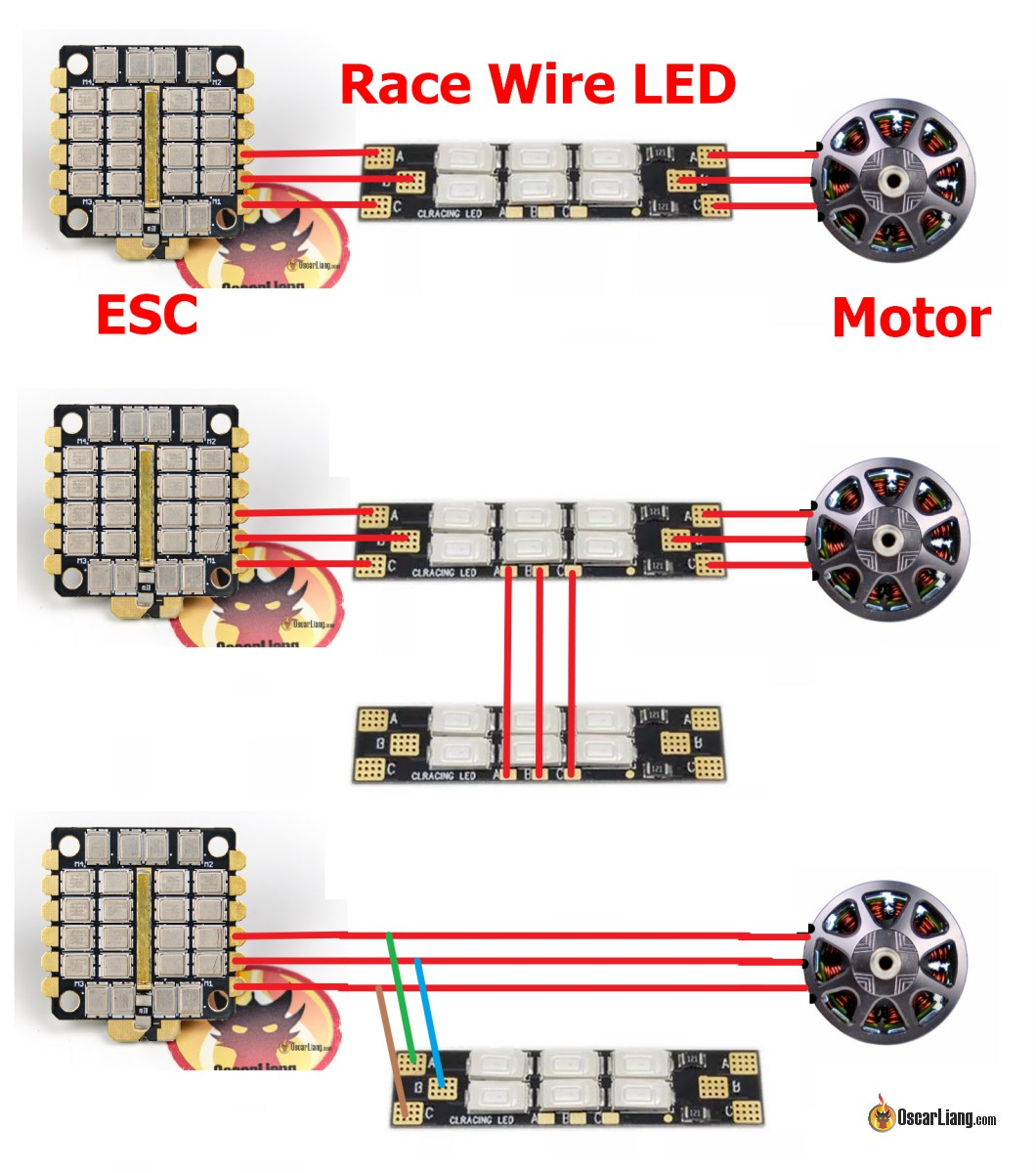 Fine Motor Wire Led Led Boards Powered By Esc Motor Oscar Liang Wiring 101 Capemaxxcnl