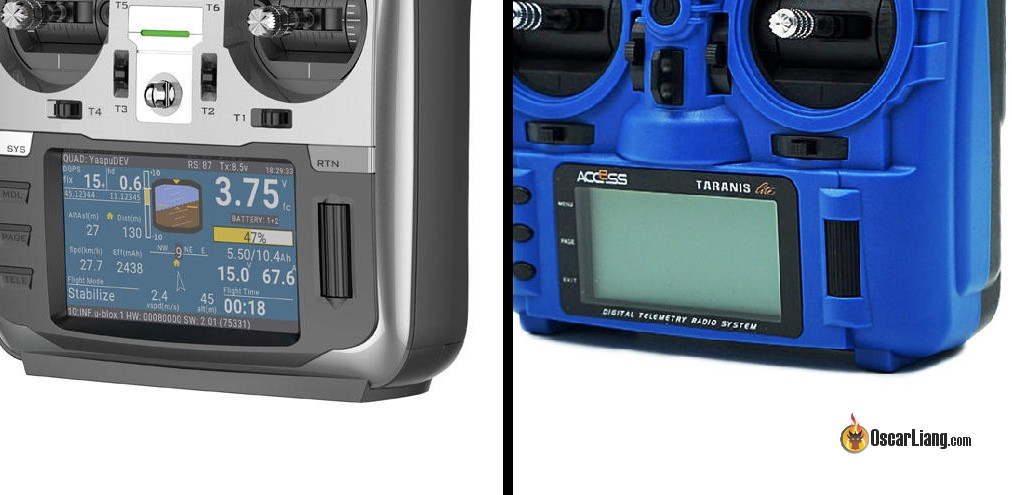 Comparison between Jumper T16 (left) and X9 Lite (right)