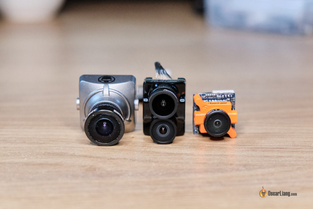Runcam Hybrid size comparison full size micro fpv camera