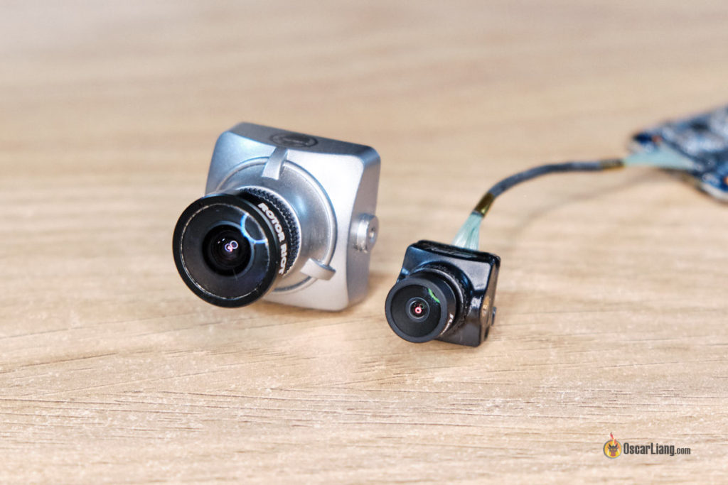 runcam split nano size comparison with full size fpv camera