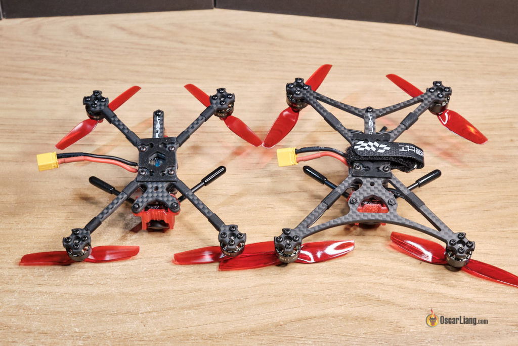 iFlight Turbobee 120RS (left), 136RS (right) Bottom Plate Comparison
