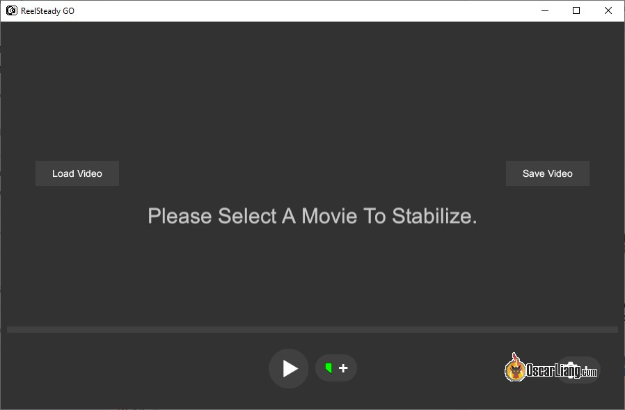 Reelsteady GO software interface