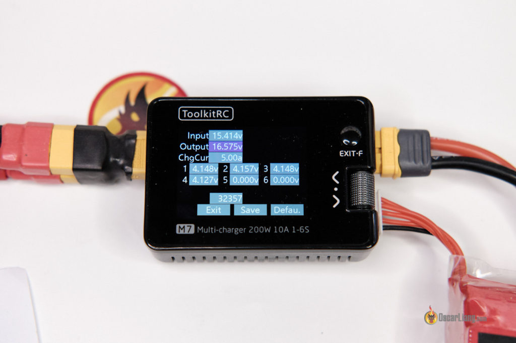 ToolkitRC M7 lipo charger voltage calibration