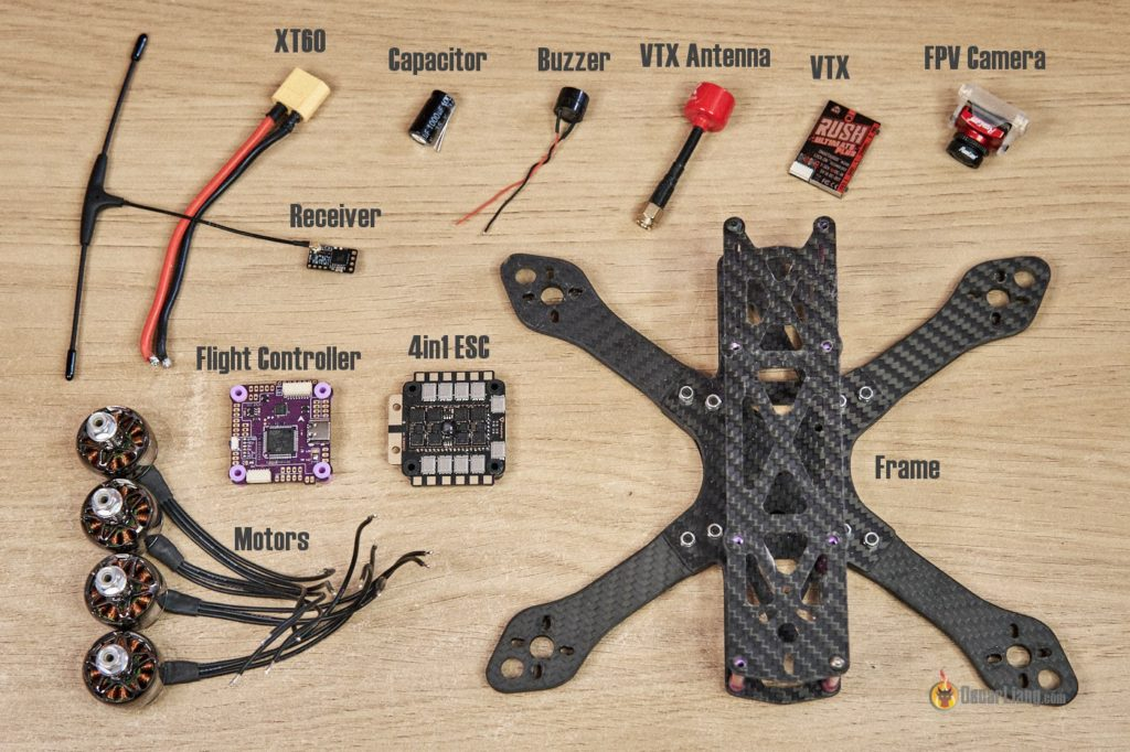 how to build fpv drone components parts
