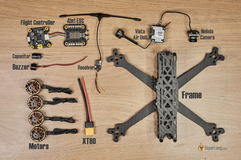 how to build fpv drone from scratch components parts dji system