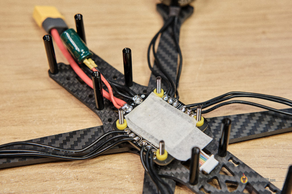 how to build fpv drone solder motors xt60 capacitor
