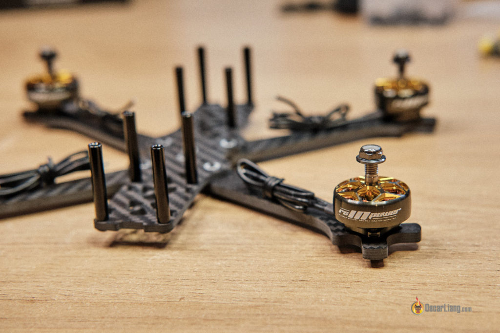 how to build fpv drone install motors